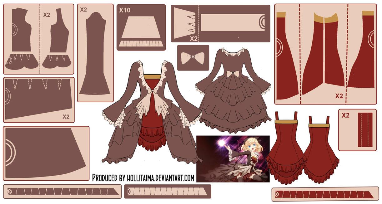 Kagamine Rin Dress w/ Dress Coat Pattern Draft by Hollitaima