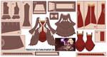 Kagamine Rin Dress w/ Dress Coat Pattern Draft