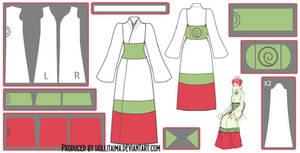 Mito Uzumaki Kimono Cosplay Design Draft