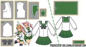 HSOTD Uniform Cosplay Pattern Draft