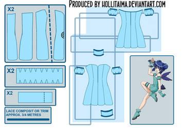 Mint - Tokyo Mew Mew Cosplay Pattern Draft by Hollitaima
