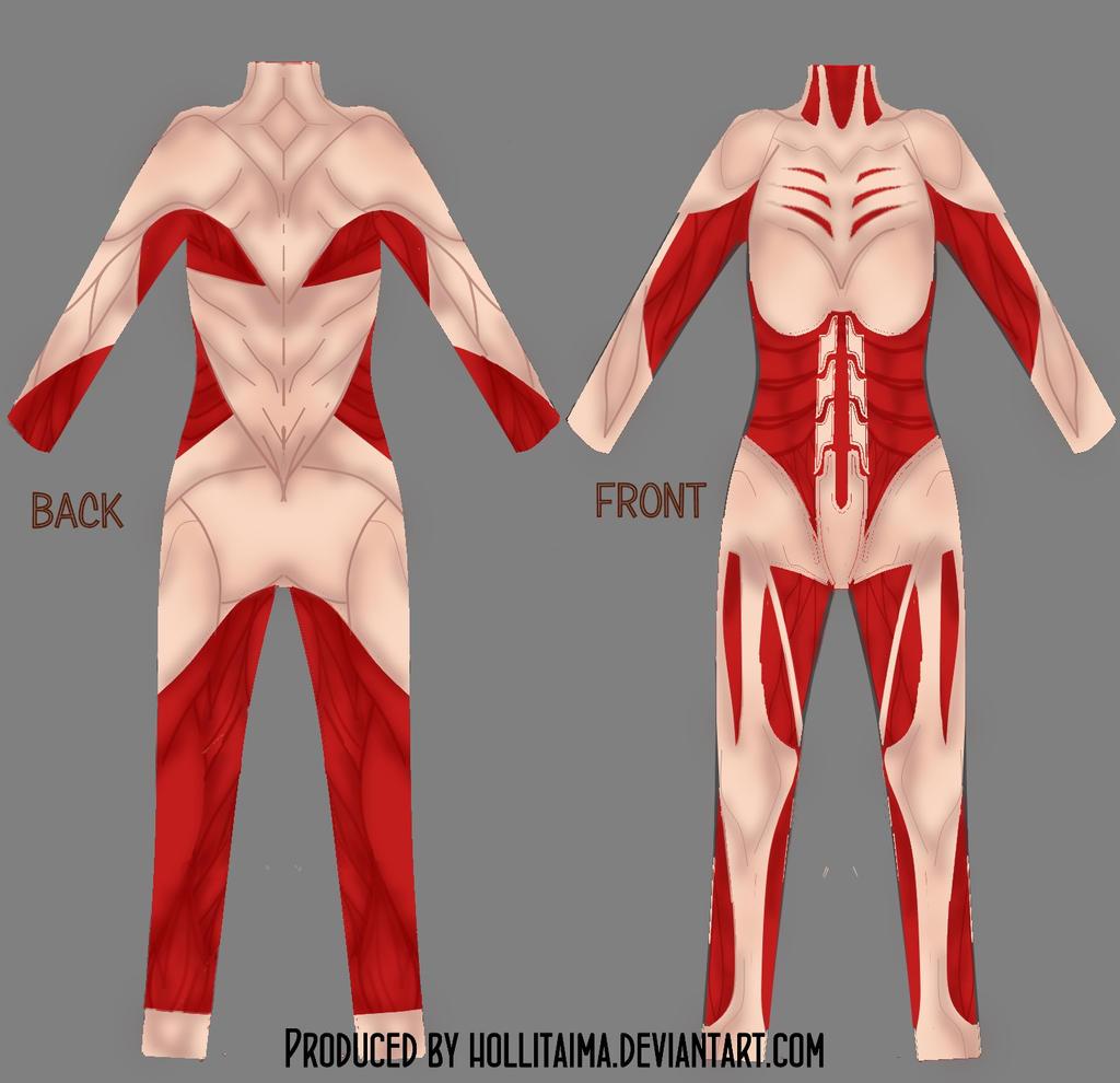 Female titan cosplay bodysuit draft