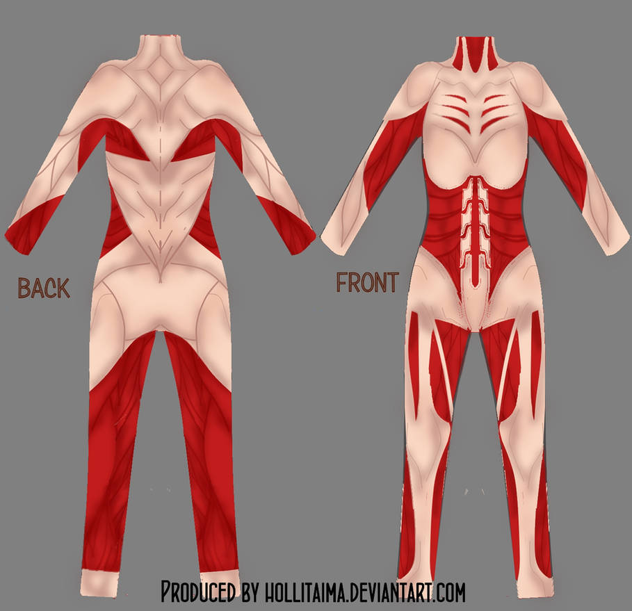 Female titan cosplay bodysuit draft by Hollitaima