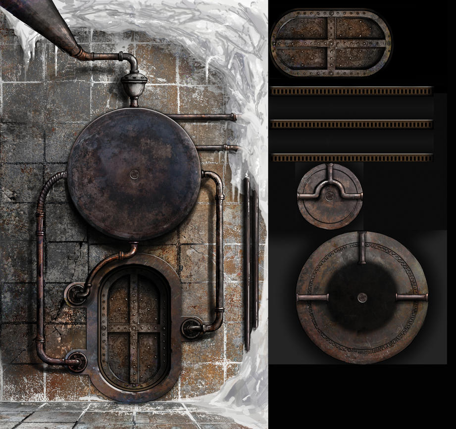 frozen Pump room puzzle assets by dasomerville