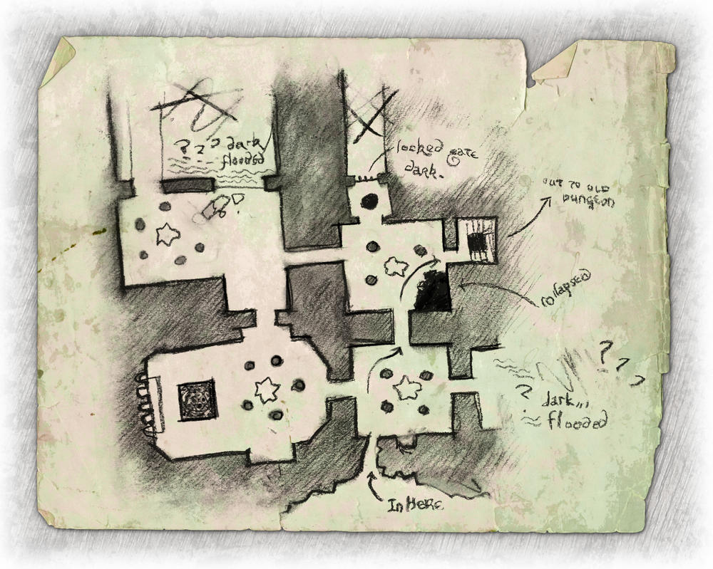 Thief's map of Salt Hall by dasomerville