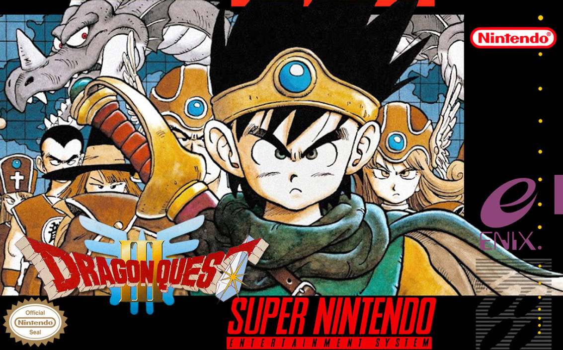 Dragon Quest III - North American Box Art by krTsukasa