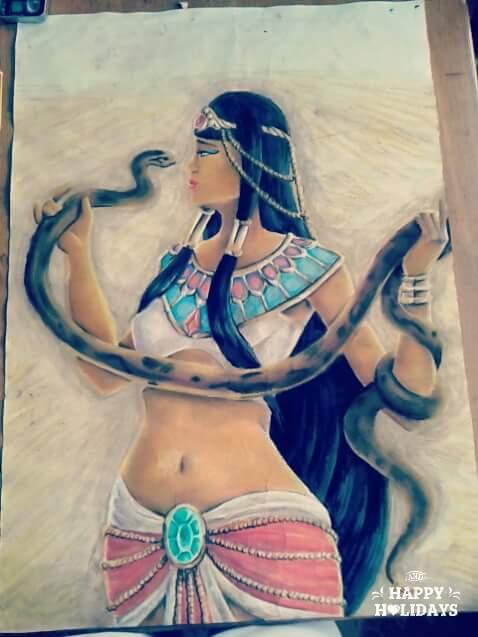 Egipcian princess with snake by xXSunny-BlueXx