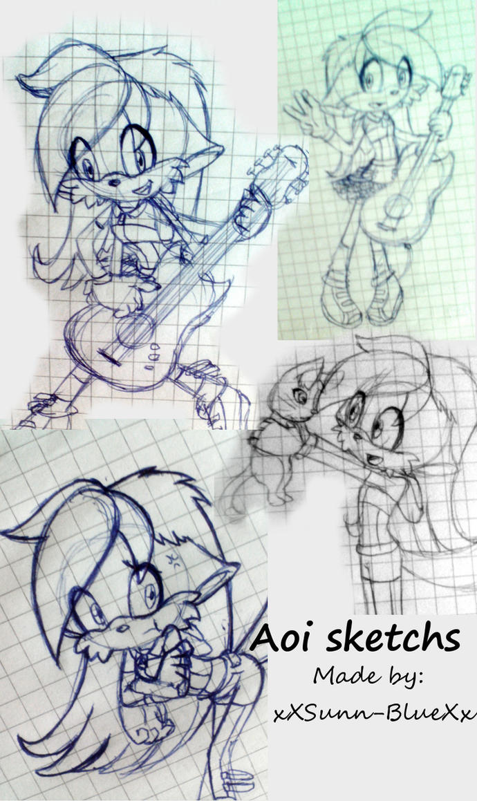 Aoi sketchs by xXSunny-BlueXx