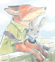 Nick and Judy by miharoe