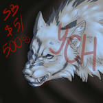 Growling wolf YCH auction (OPEN) by miharoe