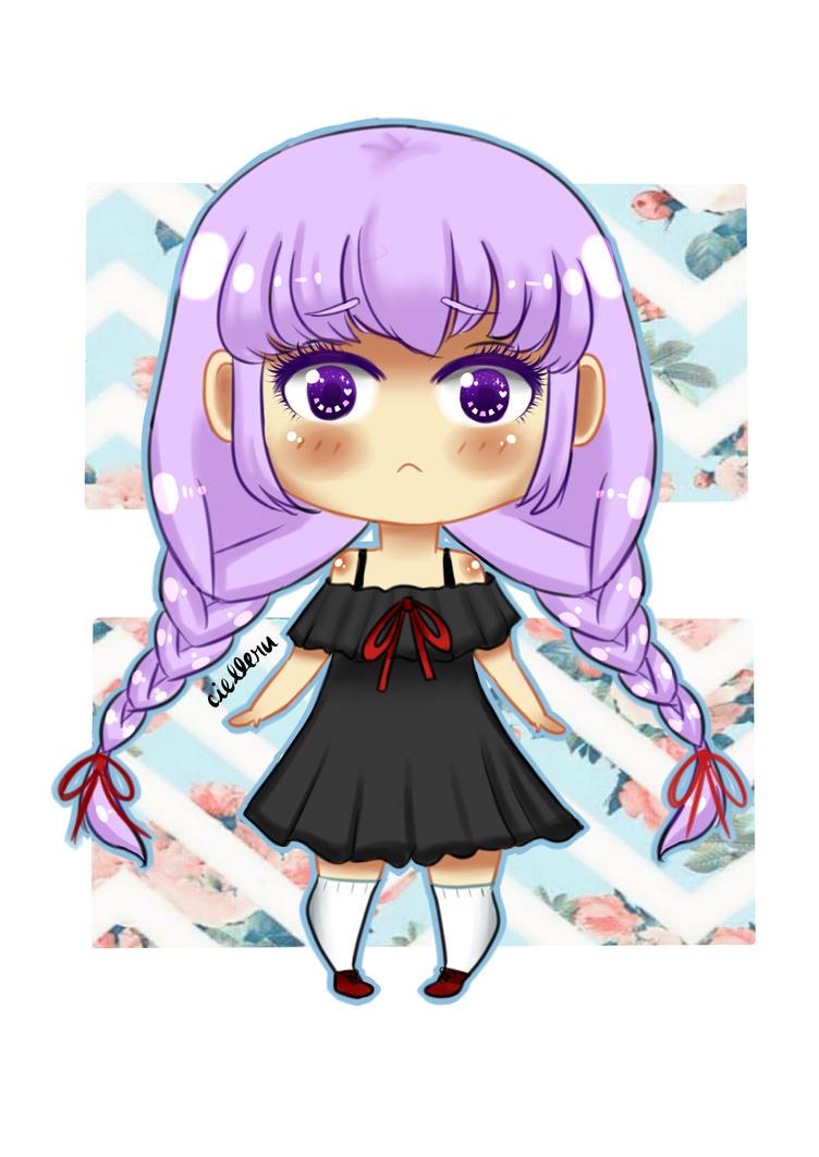 Purple Chibi by Cielleru