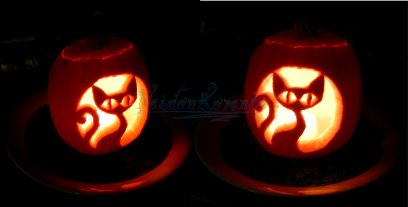 Cat-O-Lantern by Neidonkorento