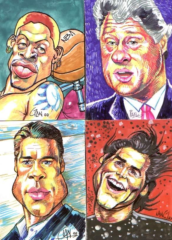 caricatures Rodman Dennis by toratora5