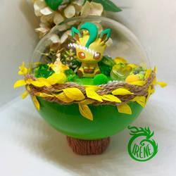 Pokemon Terrarium - Leafeon, green tea biscuit