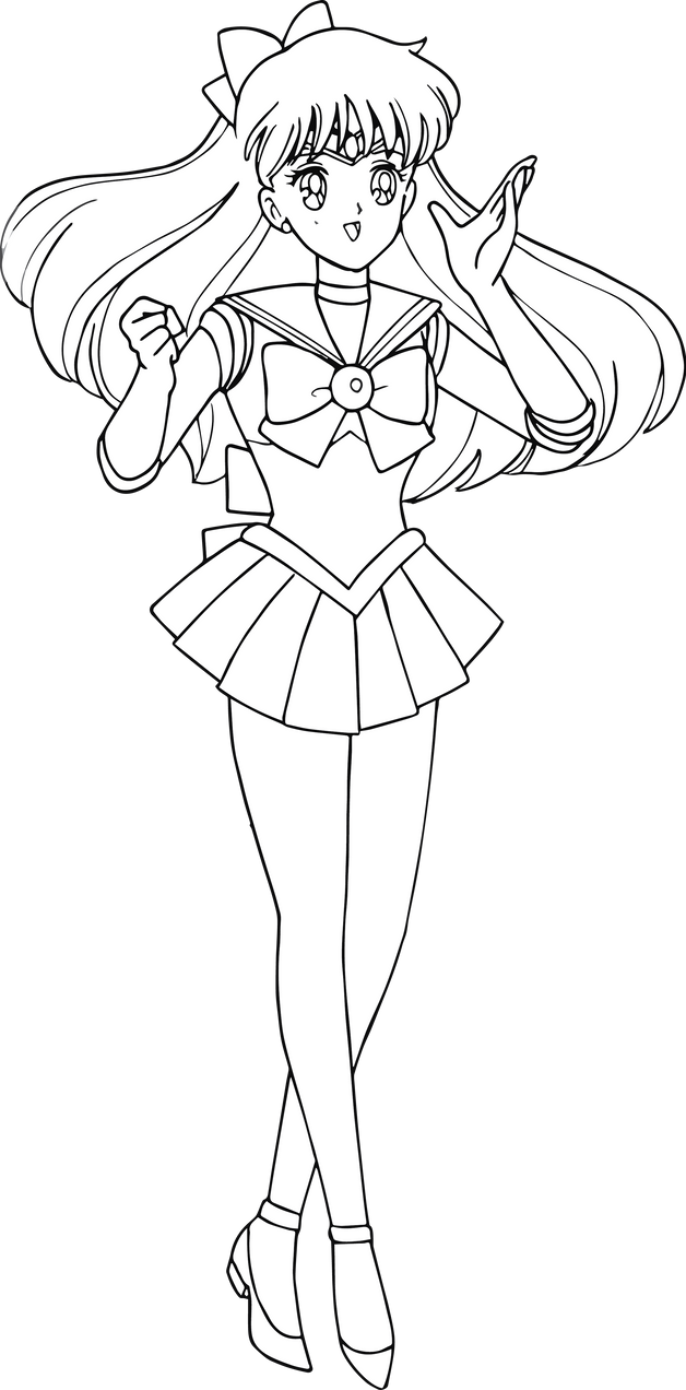 The gallery for sailor moon princess serenity coloring for Sailor venus coloring pages