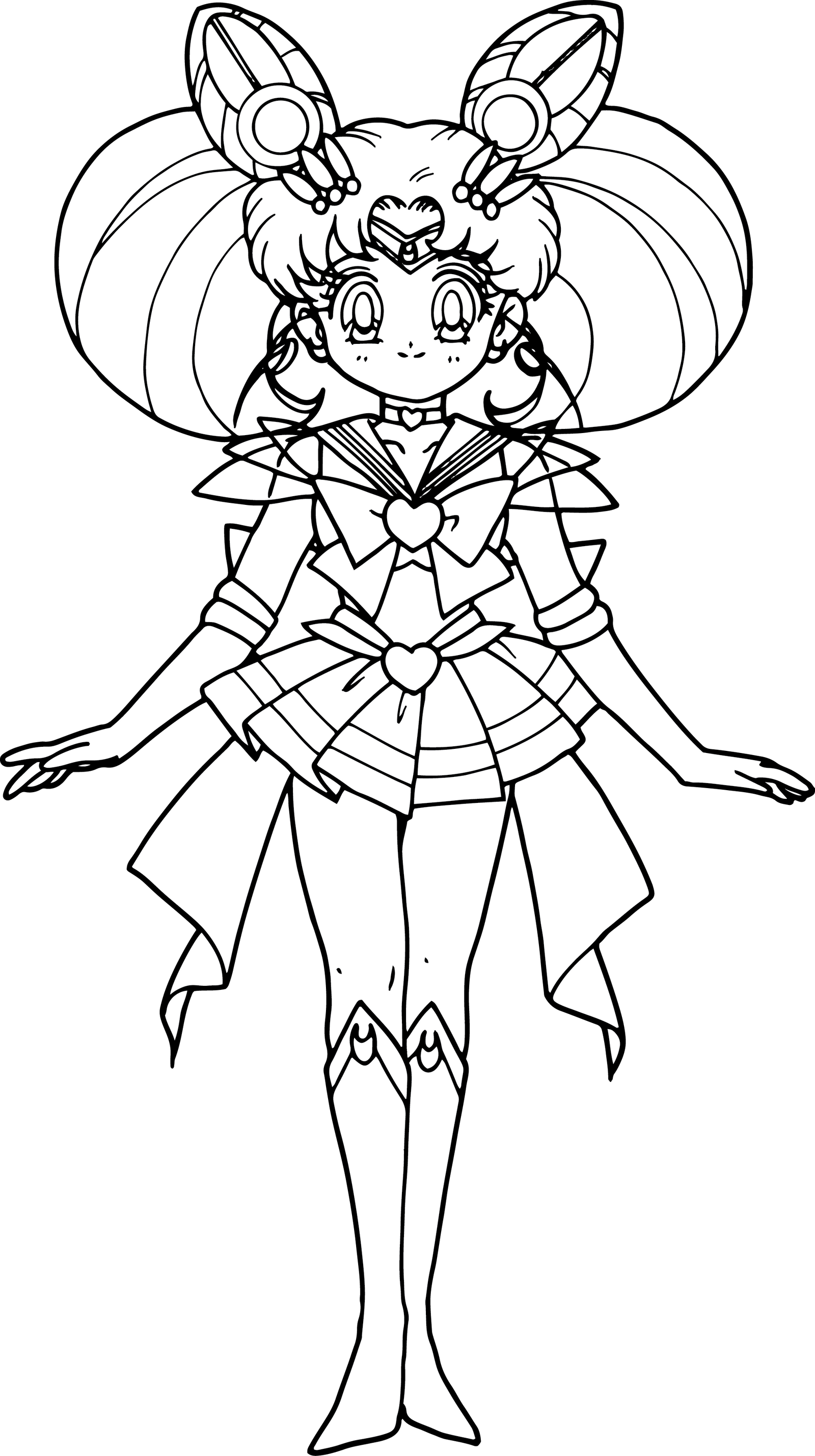 Sailor mini moon pages coloring pages for Sailor coloring pages