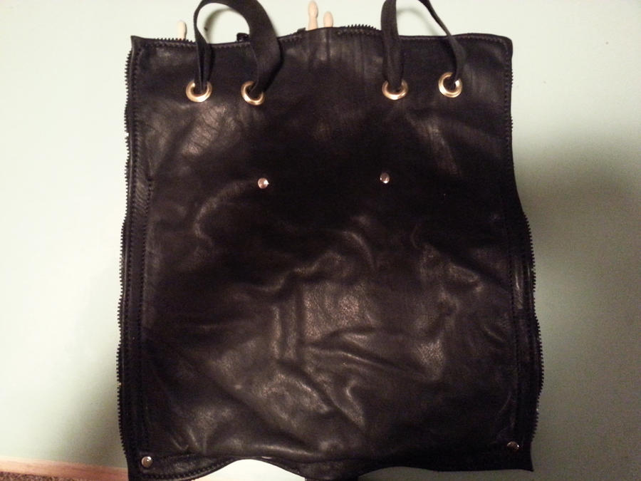 Leather stick bag final back by EvermoreInc