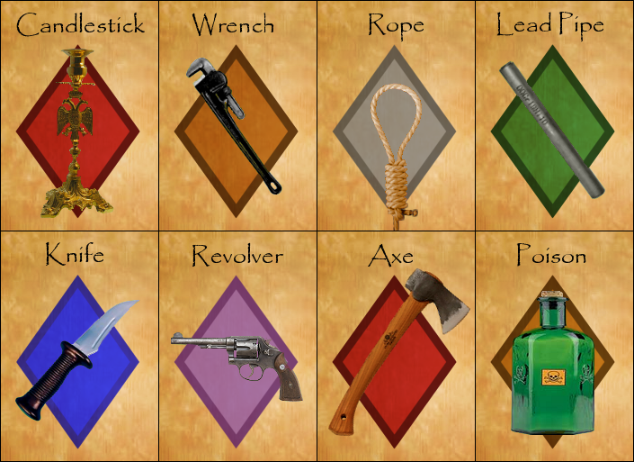 Clue - Weapons by droo216 on DeviantArt
