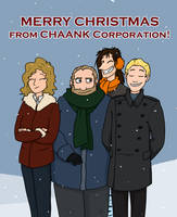 Company Christmas card by LorinaDante