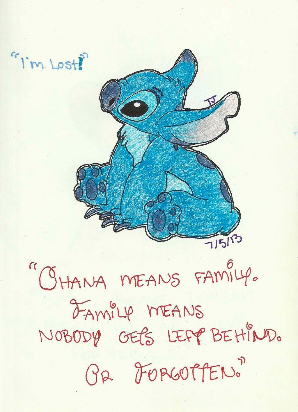Stitch Wallpaper Ohana | www.imgkid.com - The Image Kid ...