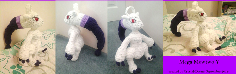 Mega Mewtwo Y Plush by Crystal-Dream