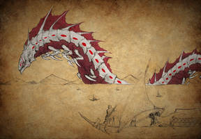 RWBY Bestiary: Sanus Death Wurm Coloured by Demize00Zero