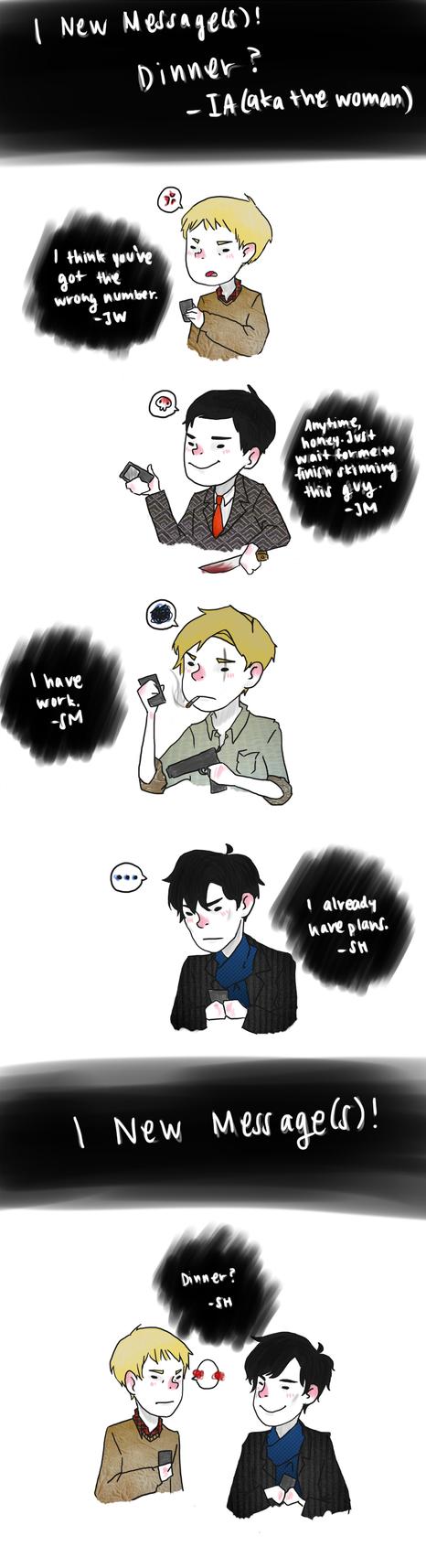 Sherlock: Dinner by LuffYu