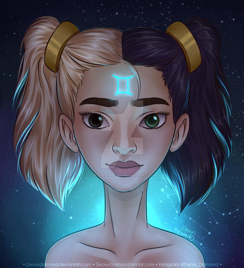Gemini Zodiac Sign By Deoxydiamond On Deviantart
