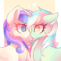 lyra and bonbon (collab) by mapony240