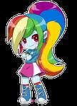 Equestria Girls Rainbow Dash chibi COMMISSION