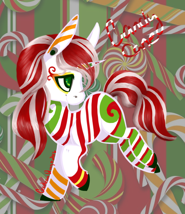 Advent Calendar 2016: Candy Cane {Auction OPEN} by Cerulean-Wings