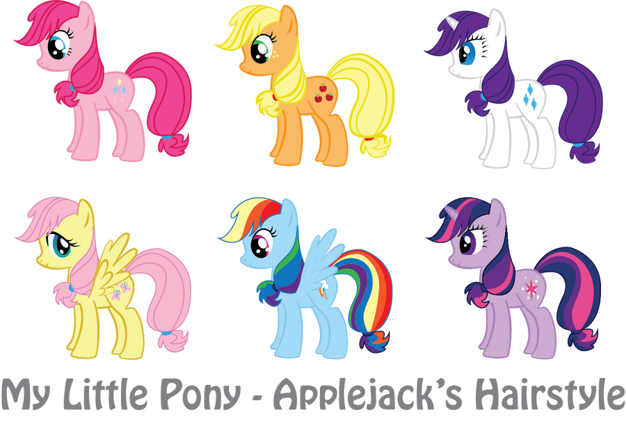 MLP - Applejack's Hairstyle by vonBorowsky