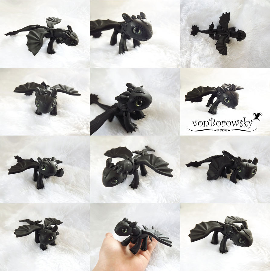 Toothless - POSEABLE by vonBorowsky