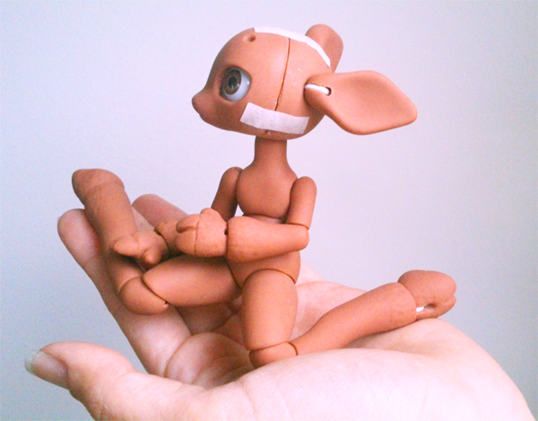 WIP Anthro Deer BJD by vonBorowsky