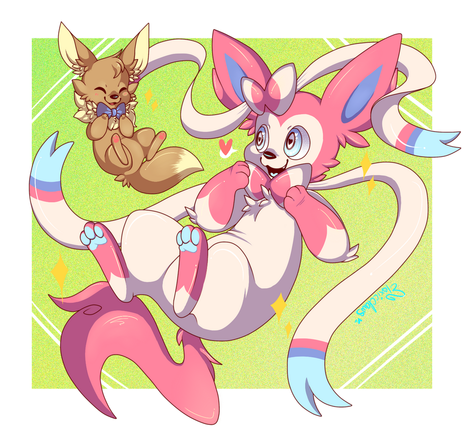 : Sylveon and Eevee! : by ToxiicClaws