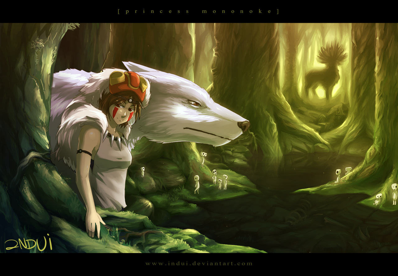 Princess Mononoke by indui