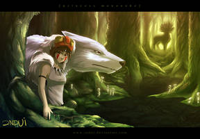Princess Mononoke by indui