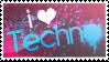 I love techno stamp by ewotion