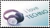 I love techno stamp 2