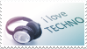 I love techno stamp 2 by ewotion