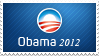 Obama 2012 Stamp by ewotion
