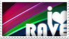 i love rave stamp by ewotion