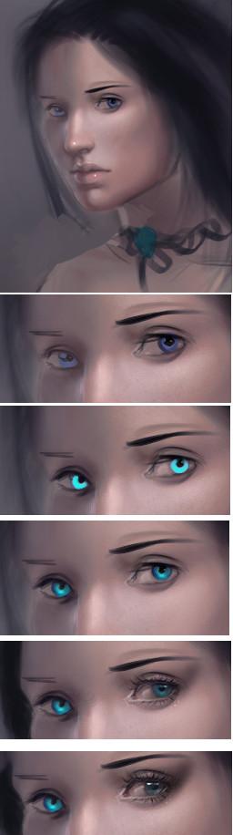 .Making of Eyes by Jennifer-Manzanera