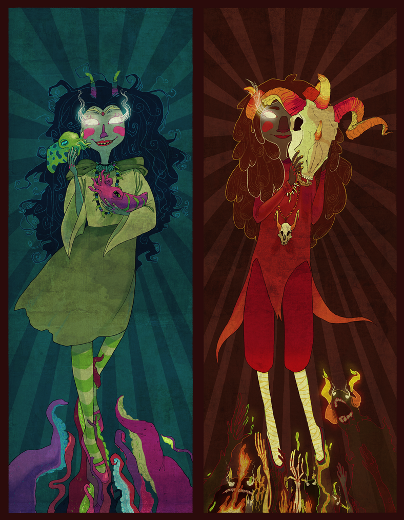 Aradia and Feferi by squish-squash