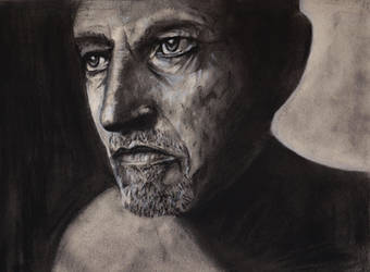 Charcoal practice 2 - Portrait of a man