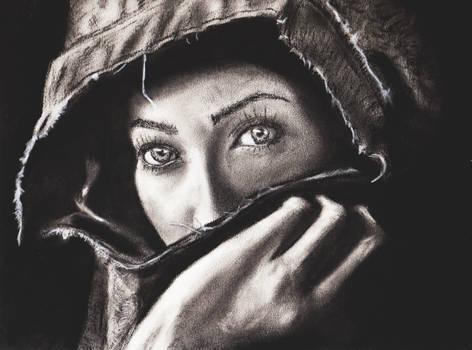 Lady of the Denim Shawl