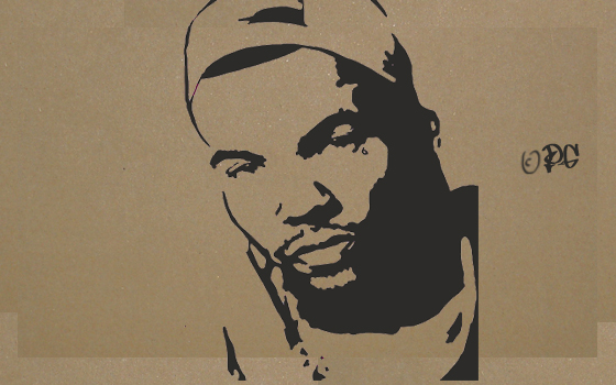 The Game stencil by DaGame-One