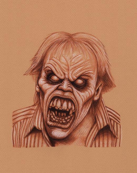 Evil Dead 2 Deadite Ed by Frankblanket