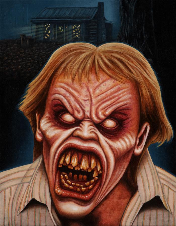 EVIL DEAD 2 Deadite Ed Painting by Frankblanket