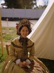 New Gold Dress by Lady-Lovelace